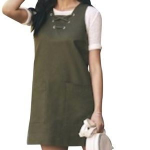 WHO WHAT WEAR UTILITY DRESS GROMMETS & POCKETS